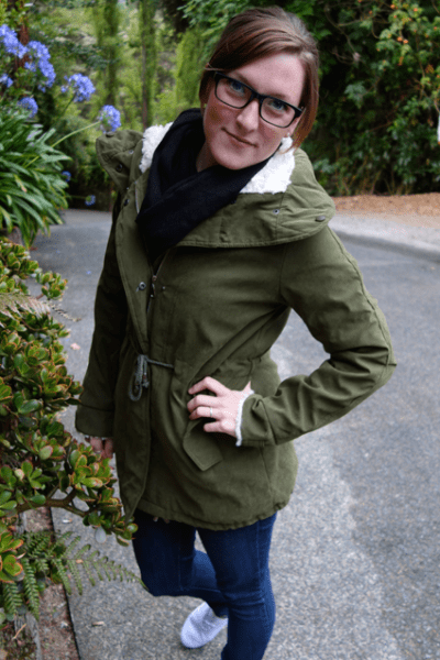 OOTD: green parka & firmoo review