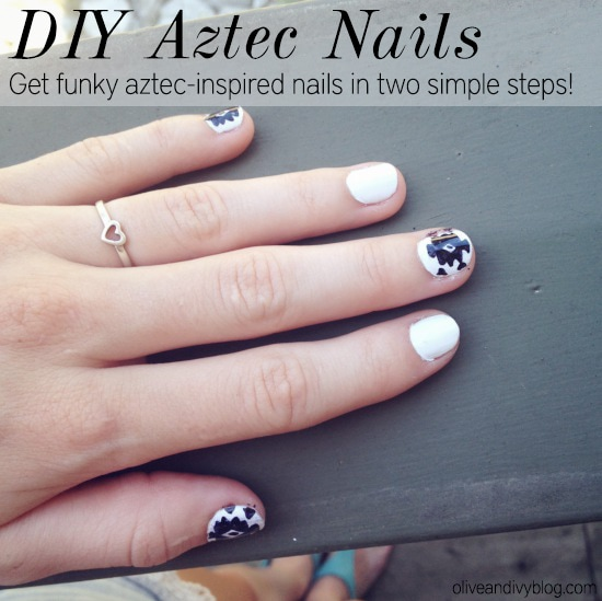 diy-aztec-nails