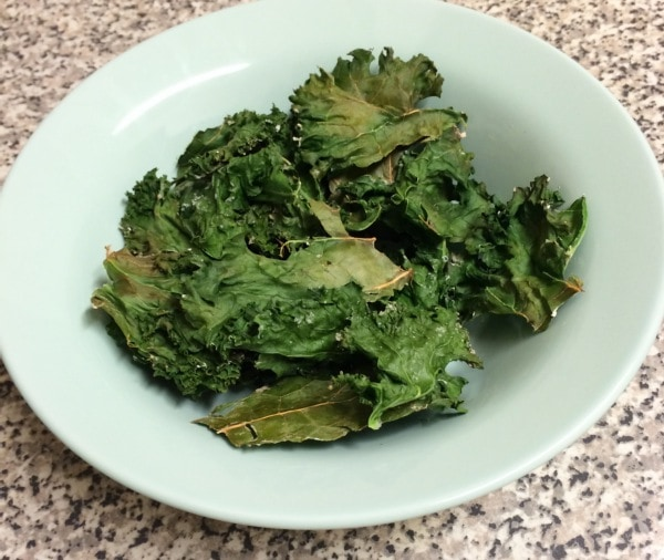 Kale chips are SO easy to make and are super healthy. LOVE them.