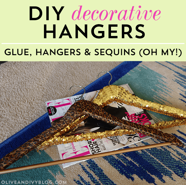 decorative hanger how to #diy #sequins