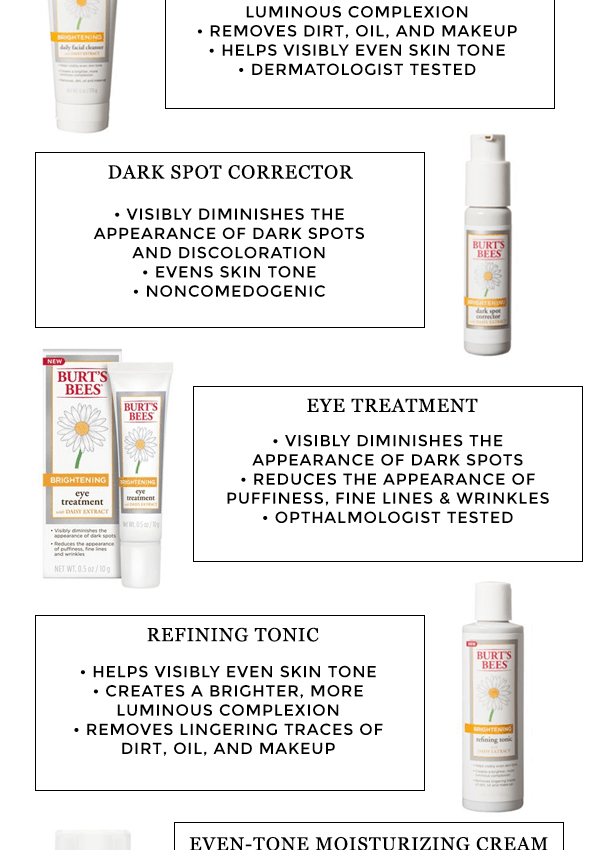 bright and beautiful skin with burt's bees brightening line