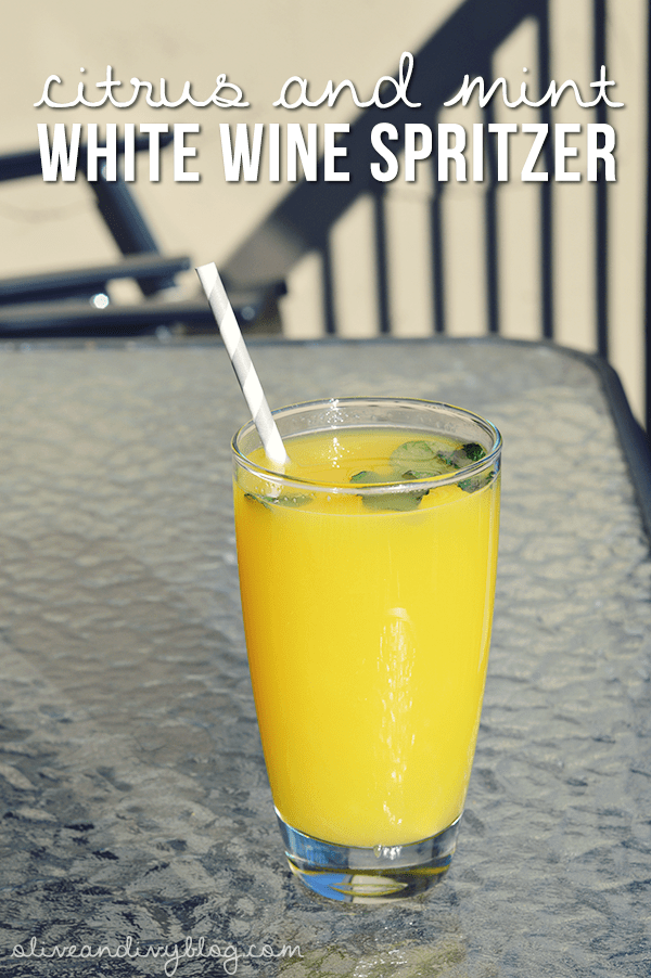 citrus and mint white wine spritzer