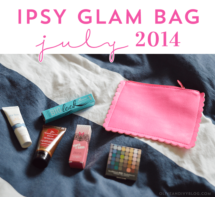 Ipsy Glam Bag Review - July 2014