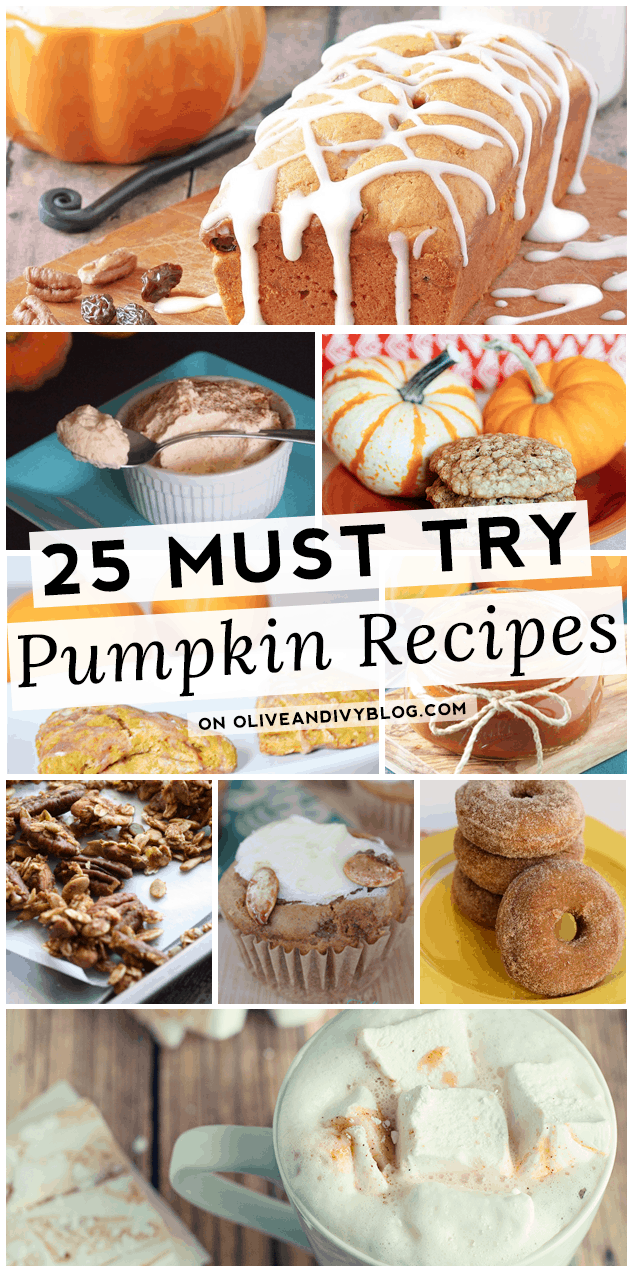 Must Try Pumpkin Recipes #fall #pumpkin #recipes