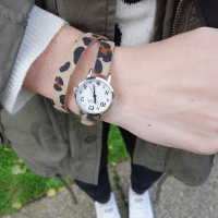 Leopard wrap watch - Feral Watches