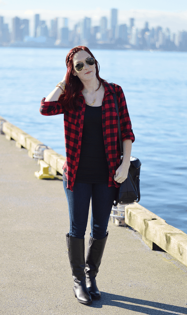 SO obsessed with flannel shirts (especially buffalo check ones!) this winter. #fashion #style #winter
