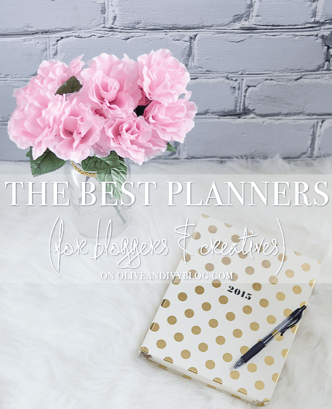 Check out this list and review of the best planners for bloggers and creatives!