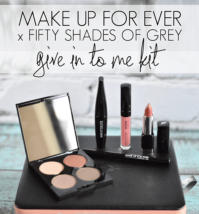 MAKE UP FOR EVER x Fifty Shades of Grey // Give In To Me Kit Review and Swatches