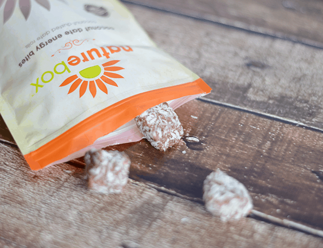 Naturebox coconut date energy bites