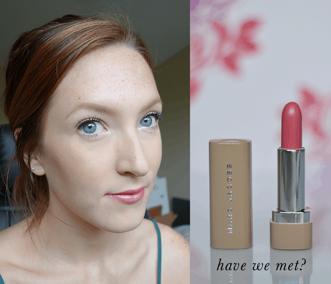 Marc Jacobs New Nudes Sheer Lip Gel in Have We Met? Such a gorgeous shimmering warm pink!