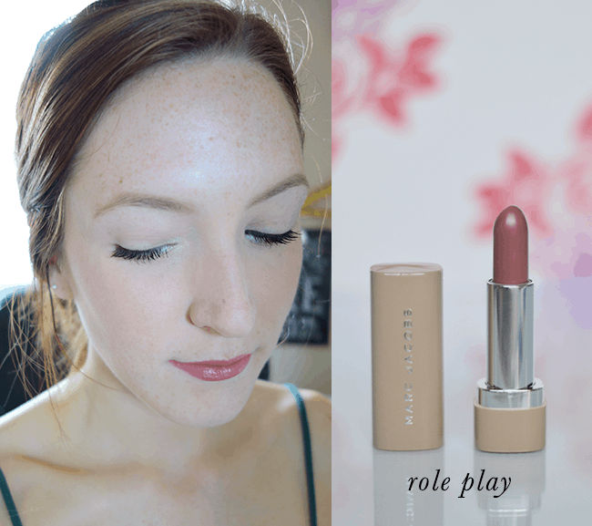 Marc Jacobs New Nudes Sheer Lip Gel in Role Play. The most perfect dusty rose nude!