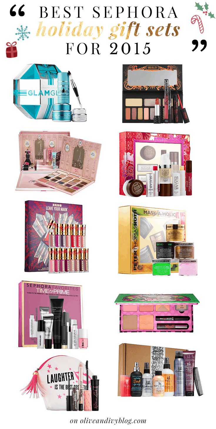 A detailed list of the best Sephora holiday gift sets for 2015! | oliveandivyblog.com
