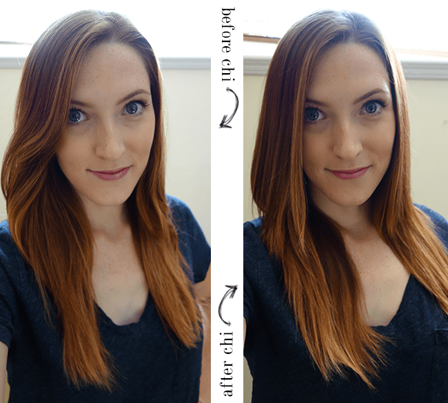Ultra CHI before & after results in 4 mins and 30 seconds! #CHIFallSleek #CHIhaircare #thebeautycouncil | oliveandivyblog.com