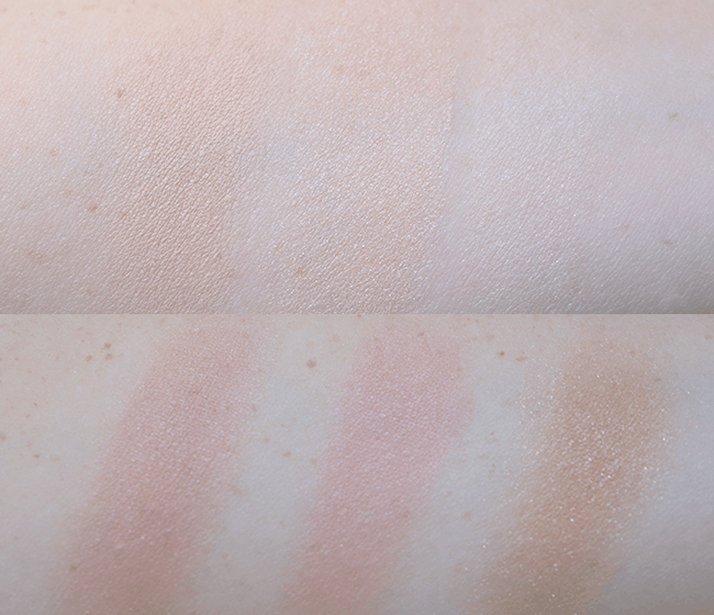 The Hourglass Ambient Lighting Edit (limited edition!) is a must-have while it's still available! Swatches of all six powders. | oliveandivyblog.com