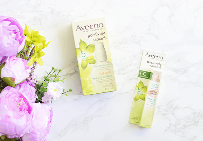 Aveeno Positively Radiant Daily Moisturizer & CC Eye Cream | Review | Olive & Ivy