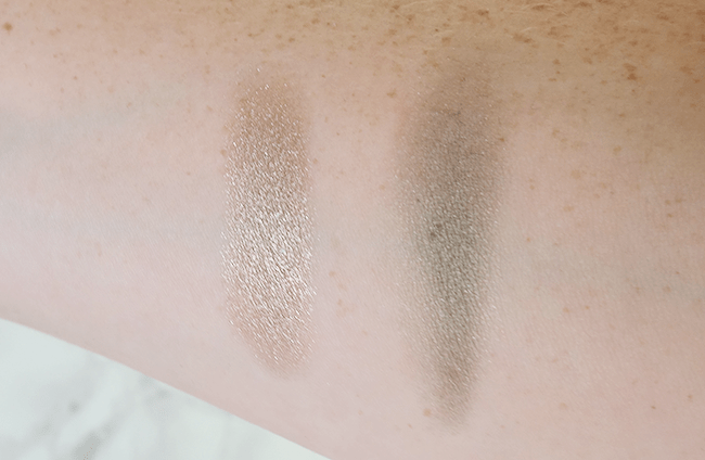 NARS x Steven Klein Holiday Collection | Single shadows Stud & Never Too Late swatches | oliveandivyblog.com