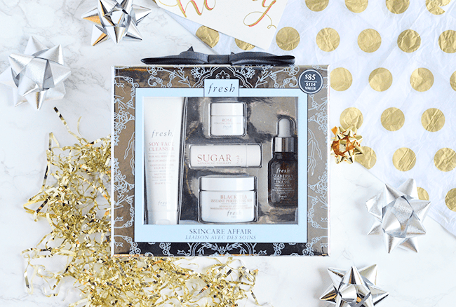 The Fresh Skincare Affair holiday set is the perfect gift for a skincare junkie! | oliveandivyblog.com