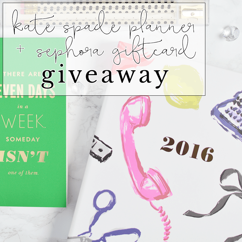 Enter to win a Kate Spade planner, Sephora giftcard and MORE! | oliveandivyblog.com