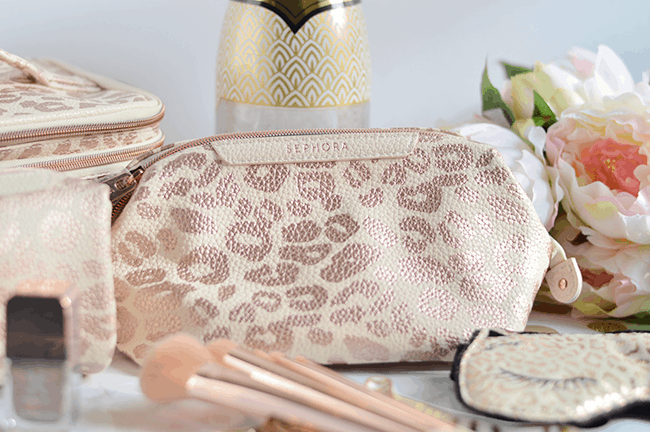 Sephora Collection leopard makeup bags | oliveandivyblog.com