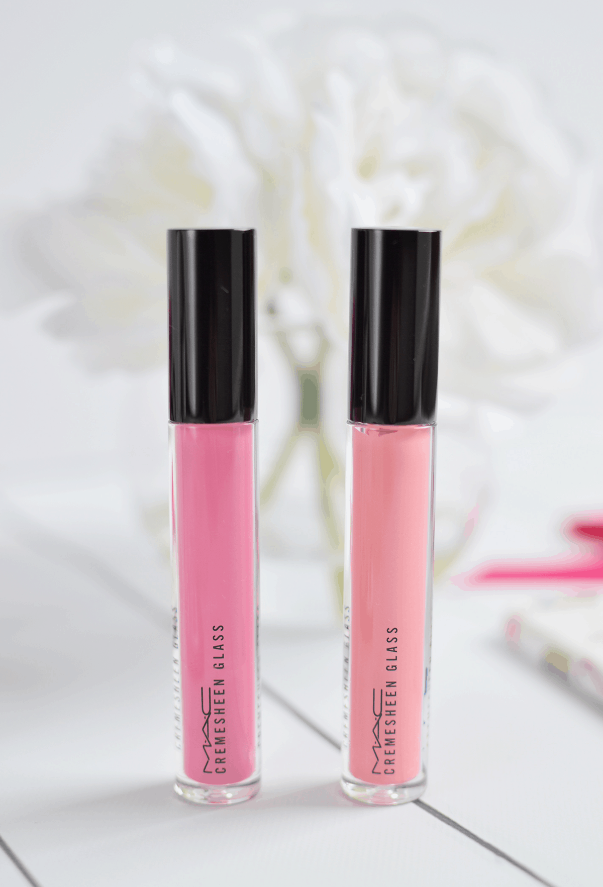 MAC Flamingo Park Collection // Cremesheen Glass in Sweet Tooth and Petite Indulgence | oliveandivyblog.com