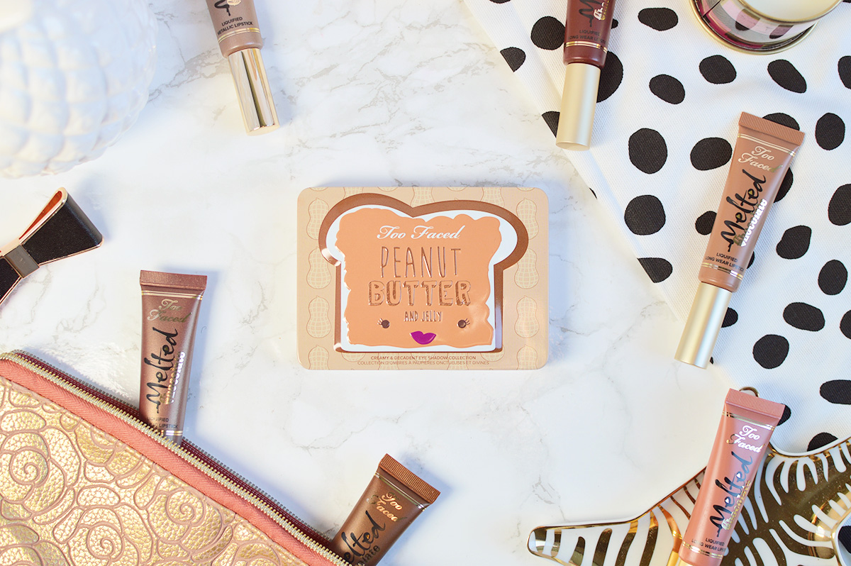 Too Faced Peanut Butter & Jelly Palette swatches | oliveandivyblog.com