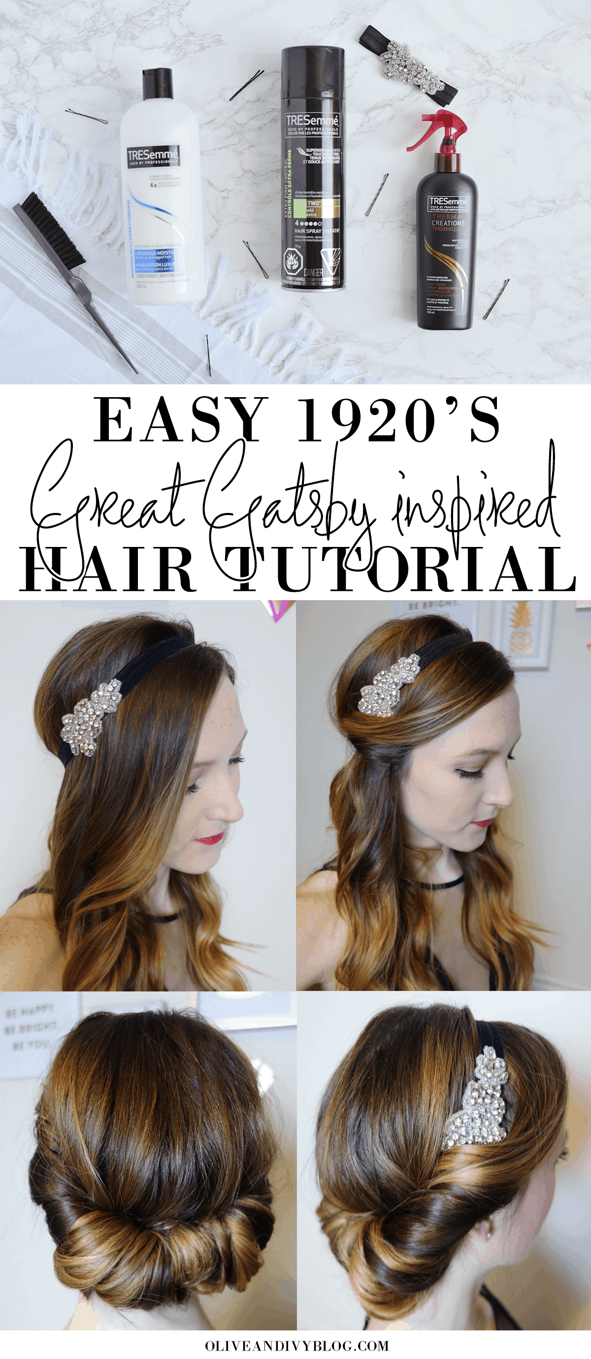 Surprising Easy 192039S Great Gatsby Hair Tutorial Olive Amp Ivy Short Hairstyles Gunalazisus