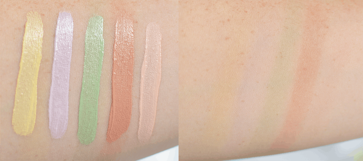 Urban Decay summer 2016 collection: Naked Skin Color Correcting Fluid swatches   oliveandivyblog.com