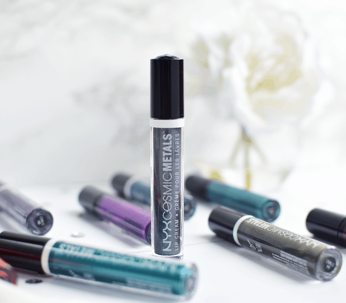 NYX Cosmic Metal Lip Creams (and one just may be a KyMajesty Kylie Lip Kit Dupe!)   oliveandivyblog.com