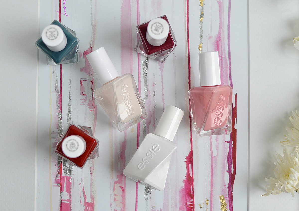 The Essie Gel Couture Polish makes for a super easy at-home gel manicure and it lasts for SO long without chips!   oliveandivyblog.com