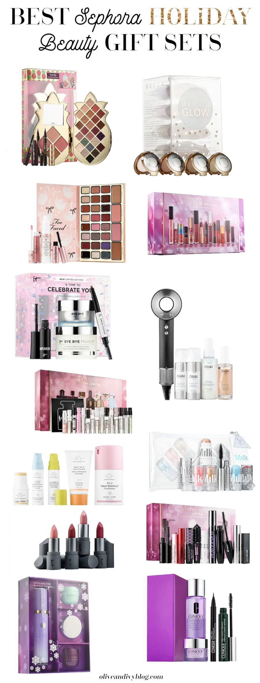 A detailed list of the best Sephora holiday gift sets for 2018! | oliveandivyblog.com