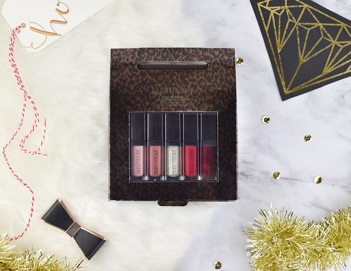Laura Mercier Kiss of Shine Lip Glace Collection review and swatches | oliveandivyblog.com