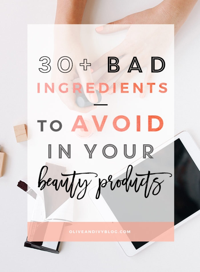 "Bad Ingredients In Beauty Products (AKA My ""Non-Negotiable"" Ingredients List!)"