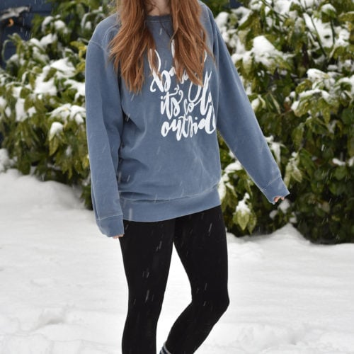 """How adorable is this """"Baby It's Cold Outside"""" sweater from Frills & Trimmings Boutique? Love!"""