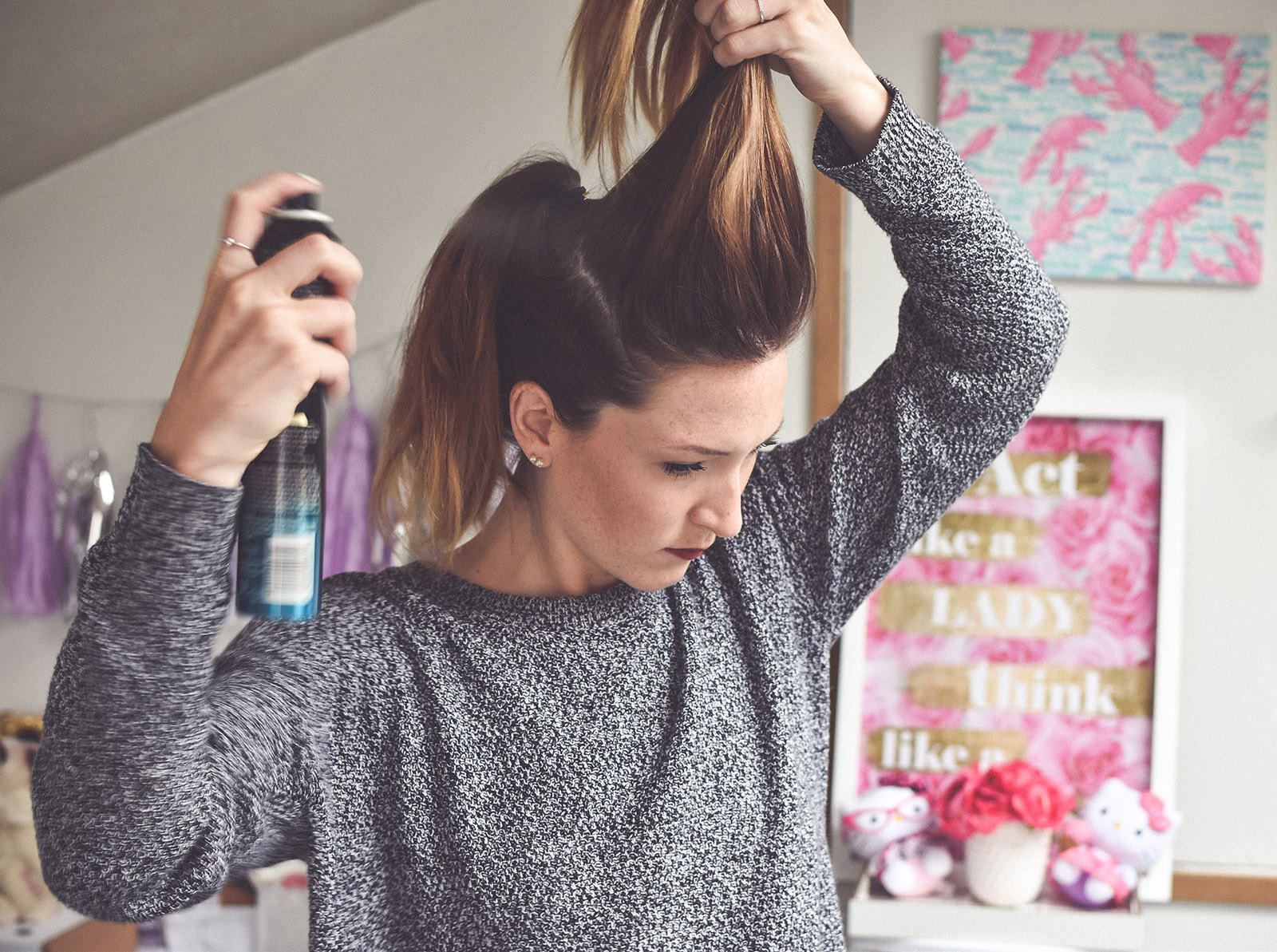 How to get a voluminous ponytail (even if your hair is flat and fine)!