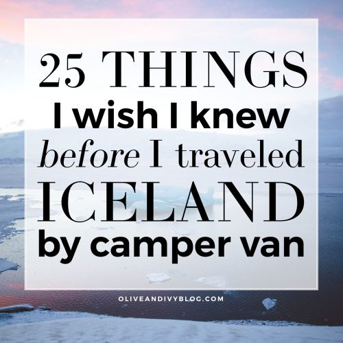 Iceland camper van travel tips, tricks and travel hacks