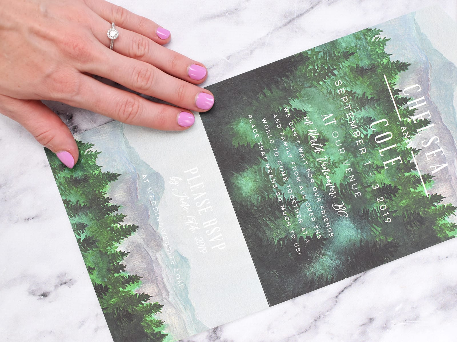 Outdoor wedding invitations from Minted
