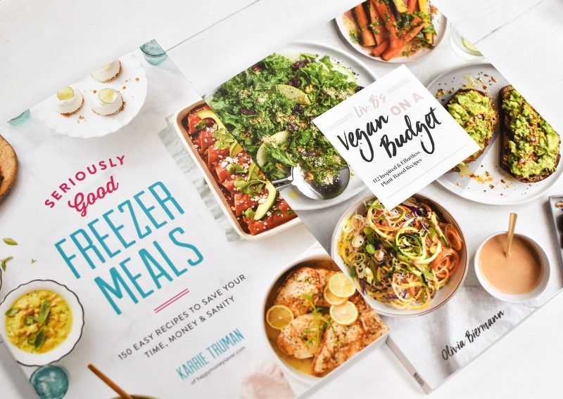 Vegan on a Budget and Seriously Good Freezer Meals cookbooks