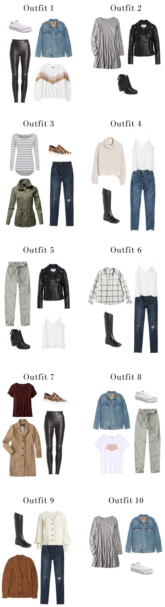 Fall capsule wardrobe outfits