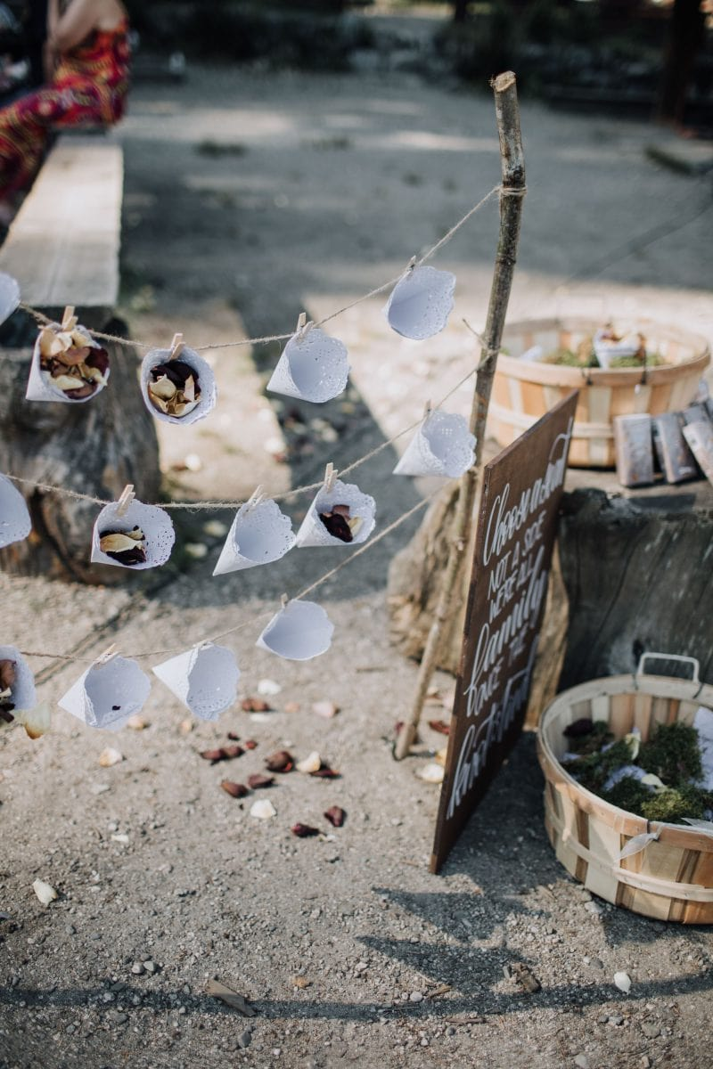 DIY flower toss at wedding